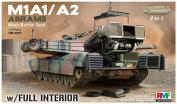 Rye Field Model 1/35 M1A1 / A2 Abrams w/ Full Interior 2 in 1 - 1:35 Scale Kit