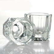 Fashion gallery 2PCS/lot Glass Crystal Bowl Cup Dappen Dish Arcylic Solution Cup Nail Art Product Tool  .   Wholesale