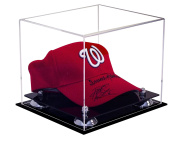 Deluxe Acrylic Display Case for Collectible Sports Baseball Hat or Cap with UV Protection