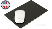 NewerTech NuPad Executive 15cm x 23cm Leather & Aluminium Mouse Pad. Made in the USA From Precision Laser Cut Aluminium Alloy & top-grade Brazilian leather With Superior Non-Slip Sponge Rubber Bottom Model NWTNUPDEX