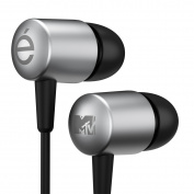 Évos Forum Extended Bass and Treble Tones In-Ear Earphone with In-Line Microphone - Silver/Black