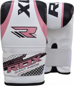 RDX Gel Bag Mitts Ladies Boxing Gloves Grappling Punch MMA Womens Pink Gym Kick