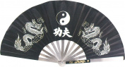 AuroTrends Kung Fu Fighting Fan 35cm Long/60cm Wide Opened- Chinese Taichi Folding Handheld Fan