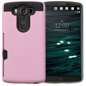 Coosin LG V10 Case Cover Wallet Case [Card Slot] Heavy Duty Protection [Scratch Resistant] Durable Silicone Rubber Shockproof Protective Shell Dual Layer Cover Protection for Your LG V10