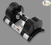 Adjustable Dumbbell Weight Set By Core Fitness - Affordable Dumbbells - Adjustable Weights - Space Saver - Weights - Dumbbells For Your Home -