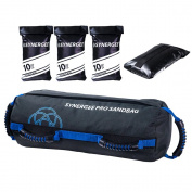 Synergee Pro Adjustable Fitness Sandbag with Filler Bags 4.5-18kg Heavy Duty Weight Bag