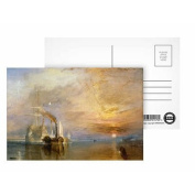 The Fighting Temeraire, 1839 (oil on canvas).. - Postcard (Pack of 8) - 15cm x 10cm - Art247 Highest Quality - Standard Size - Pack Of 8