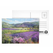 Lavender Fields in Old Provence (oil on.. - Postcard (Pack of 8) - 15cm x 10cm - Art247 Highest Quality - Standard Size - Pack Of 8