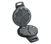 Cilio 491210 Waffle Iron, Metal, Black, 23 x 13,5 x 29 cm