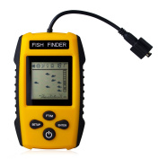 Venterior Portable Fish Finder, Fishfinder with Wired Sonar Sensor Transducer and LCD Dispaly, Updated Version of FF001