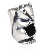Lucky Squirrel Charm 925 Sterling Silver Animal Charm Pet Charms for Pandora Charms Bracelet