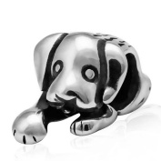Puppy Dog Paw Charm 925 Sterling Silver Cute Animal Beads Pet Charms for Pandora Charms Bracelet