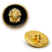 16mm Lion Metal Button, Blazer Buttons with Shank by 2pcs, T1995