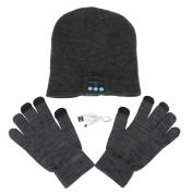 Homedeco Soft Warm Beanie Hat Wireless Bluetooth Smart Cap Headset Headphone Speaker Mic Bluetooth Hat with Touchscreen Gloves