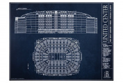 United Centre Blueprint Style Print