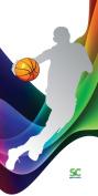 Sport N Care Basketball Towel (Basketball Dribble) Sport Towel 80cm x 150cm