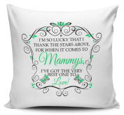 I'm So Lucky That I Thank The Stars Above (MAMMY - GREEN) Cushion Cover With Inner/Insert