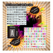 208 black and colour letters ~number ~symbols for your A4 cinematic lightbox