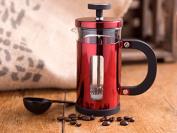 Creative Tops La Cafetiere Pisa 3-Cup Coffee Maker with Scoop, Metallic Red