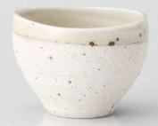 Rokuro Hiwa 7.8cm Set of 2 Japanese Tea Cups White porcelain Made in Japan