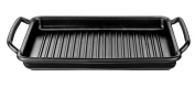 Monix Solid+ - 40 cm ribbed grill pan, cast aluminium with Teflon Classic non-stick.