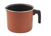Alluflon Zecchino Nonstick Milk Pot with Spout. 10 cm Diameter, 1 Handle, Aluminium, 1.90 Litres, Orange