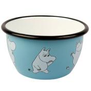 "Muurla 6 dl Enamelled Steel ""Moomin"" Moomin Bowl, Blue"