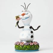 Disney Traditions Olaf with Flower Figurine