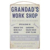 Wall Plaque Grandad's Work Shop Hanging Sign
