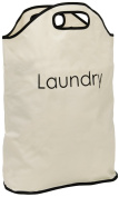 Viceni Laundry Bag with Integrated Handles, Polyester, Cream