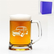 1 English Pint Glass Tankard With Classic Mini Cooper Design with gift box