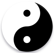 "metalum premium coaster (Pack of 4) in a round shape ""Ying Yang"""
