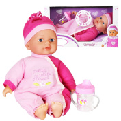 Baby Doll with Sounds New Born Soft Bodied Doll Girls Pretend Play Toy