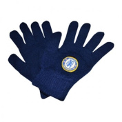 Chelsea Big Crest Knitted Gloves - Black