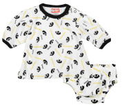 Iowa Hawkeyes NCAA Baby Girls Infant Top and Nappy Cover Set, White