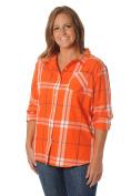 NCAA Women's Plus Size Boyfriend Plaid Flannel Shirt