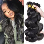 Babe Hair Brazilian Body Wave Hair 4 Bundles Grade 7A Unprocessed 100% Virgin Hair Weave Human Hair Bundles Natural Colour 95-100g/pc