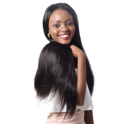 """XCCOCO Hair Malaysian Remy Silky Straight Hair Weave 4 Bundles 400g 7A Unprocessed Virgin Hair Extensions Natural Black18""""X4"""