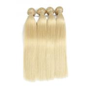ALLRUN 7A Quality 613 Blonde Virgin Hair Straight 4 Bundles Blonde Brazilian Hair Platinum Blonde Virgin Hair Human Hair Extensions