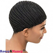 Rossy & Nancy Black Braids Cap for Easier Sew Hair Weft Designed for Those Who Suffered From Hair Loss Braided Wig Cap