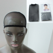 ZANA Wig Cap Open End Stretchable Cap Black Mesh Net Liner Weaving Elastic and Easy to Wear 1 Piece