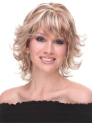 Medium Length Women Wigs Synthetic Curly Fluffy Wigs
