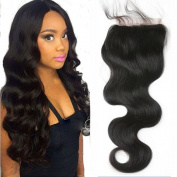 Hesperis 8A Brazilian Virgin Hair Body Wave Lace Closure 100% Unprocessed Human Hair Top Closure Free Middle 3 Part 10cm x 10cm Closure Bleached Knots Baby Hair
