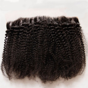 Hesperis 8A Virgin Brazilian hair lace frontal closure 13x 4 afro kinky curly human hair ear to ear lace closure bleached knots baby hair