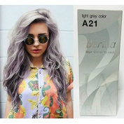 Pack of 1 Box Berina Light Grey Hair Dye A21 Hair Colour Cream Dye Light Grey 60 G. Super Permanent Fashion Unisex containing an innovative component which protects and provides glamour colour to hair as desired