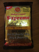 3x 150g SUPREME HERBAL HENNA Powder Dark Brown Hair Colour