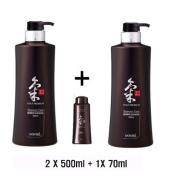 Doori Daeng Gi Meo Ri Ki Gold Premium 3Shampoos set for Hair Loss, Thin Hair, Grey Hair Prevention