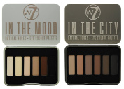 W7 In The City & In The Mood Natural Nudes Eye Shadow Palette Set by W &