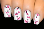 3 Sheets SY109 Japanese Cherry Blossom Sakura Flower Self Adhesive Nail Art Stickers Water Transfer Decals Decorations