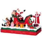 2009 Lemax Santa Float Christmas Village Table Accent